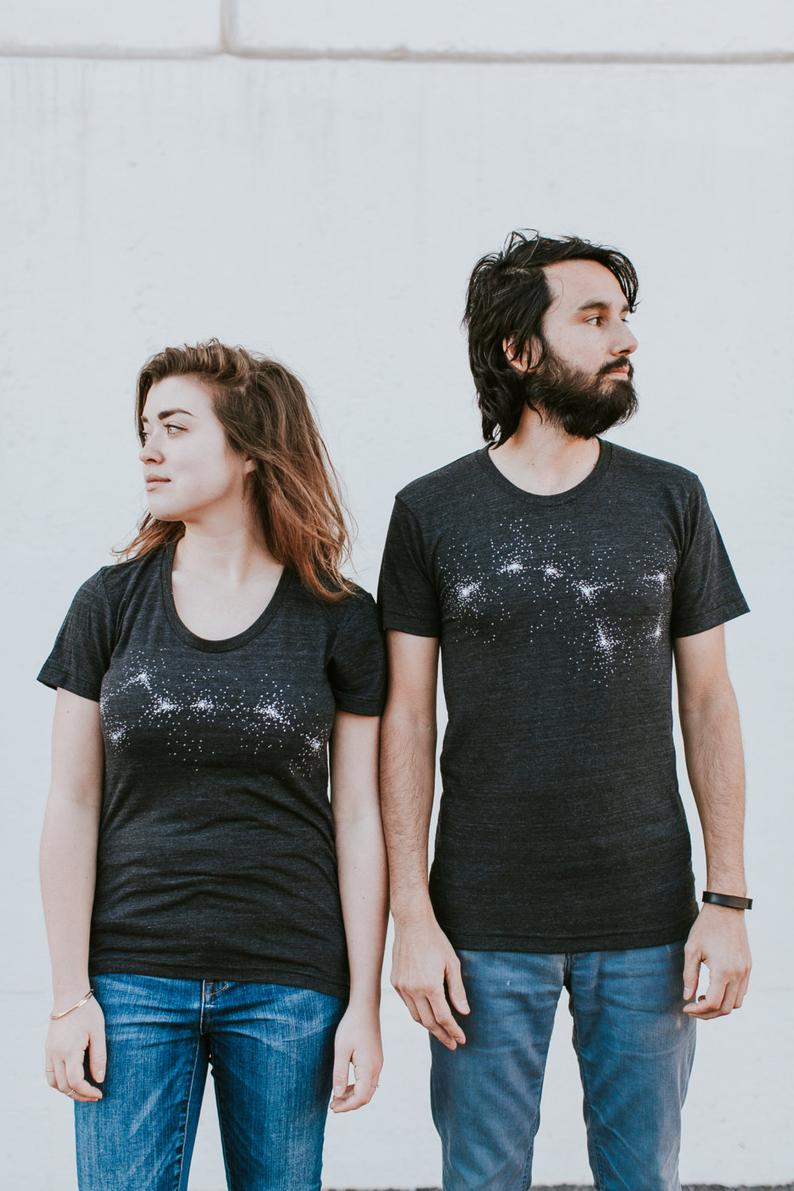 Constellation Themed Couple T-shirt
