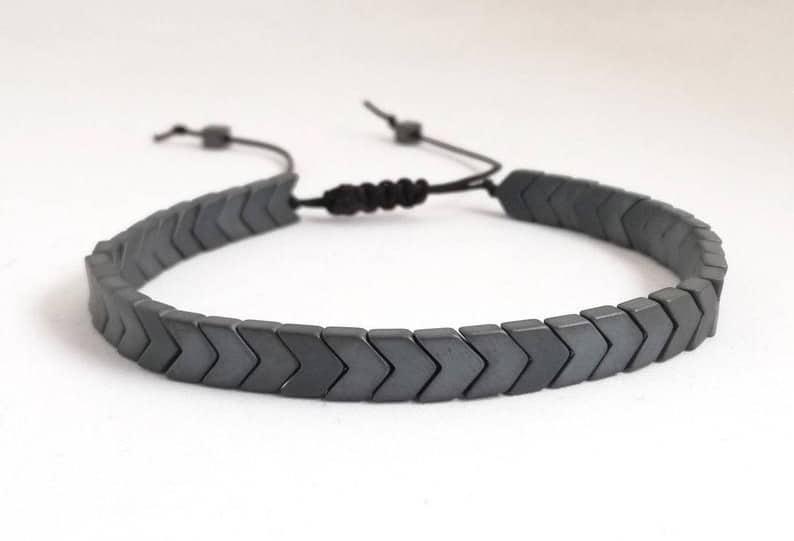 Matte Hematite Arrows Bracelets