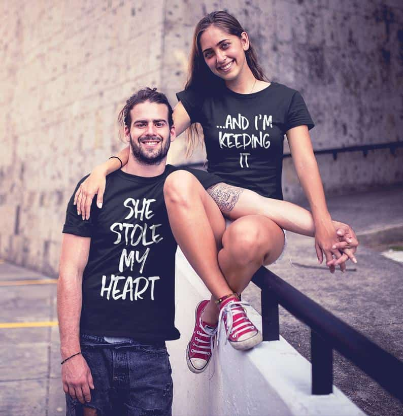 She Stole My Heart Couple T-shirt