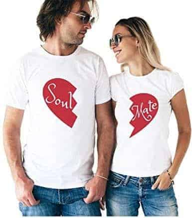 9f22826283 Matching Couple T-Shirts: 34+ Cute Matching T-Shirt Ideas