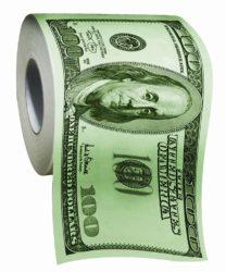 100 Dollar Toilet Paper