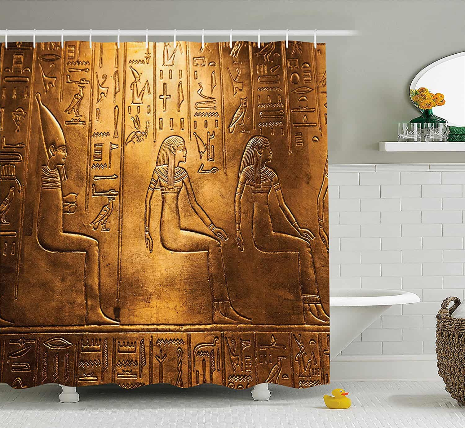 Ambesonne Egyptian Bathroom Shower Curtain