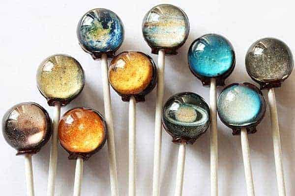 Edible Big Bang Galaxy Lollipops