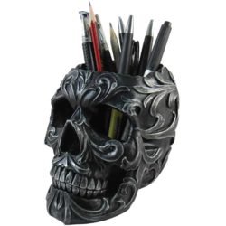 Floral Skull Stationery Holder 93