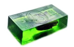 Green Money Soap Bar