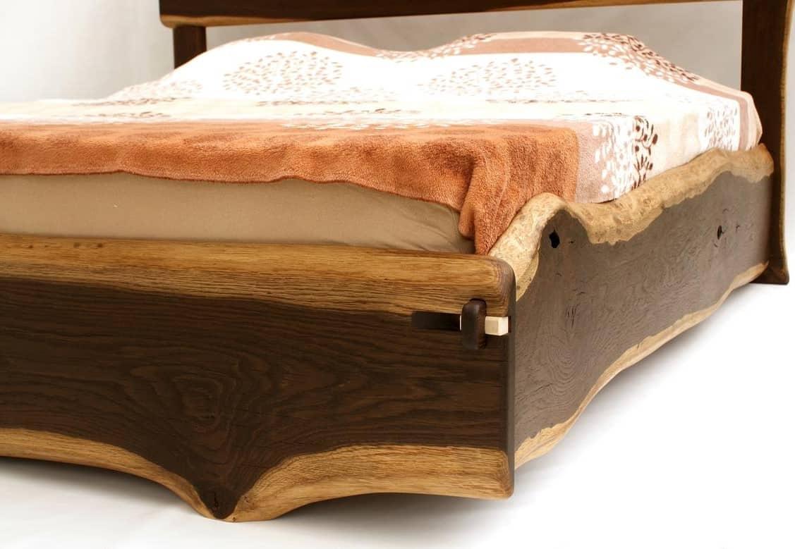Live Edge Solid Wood Bed Frame