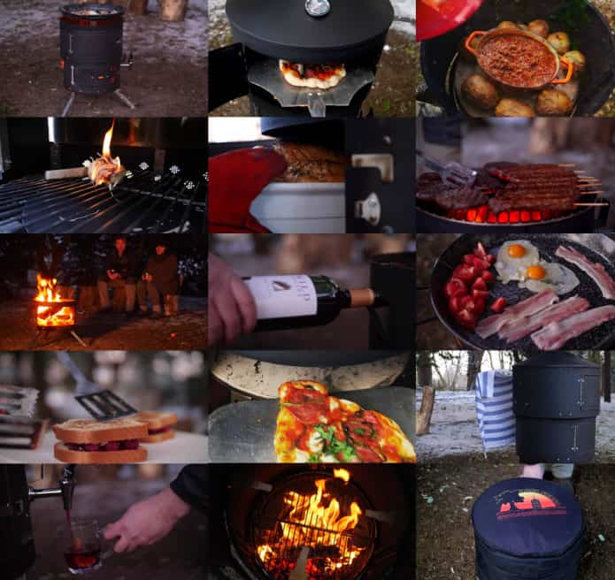All in one multi-fuel outdoor cooking stove