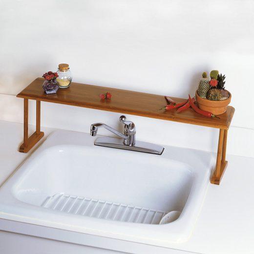 Bamboo Wooden Sink Shelf