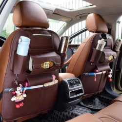 Car Back Seat Leather Storage