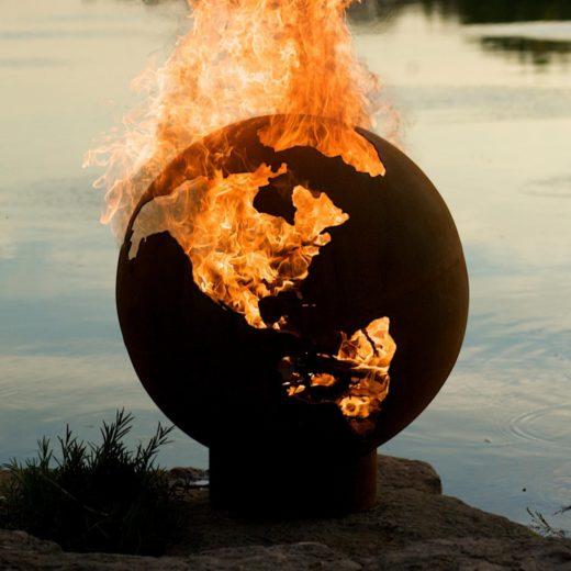 Globe Shape Fire Pit Art