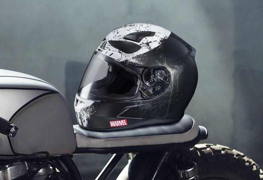 Punisher Themed Badass Motorcycle Helmet