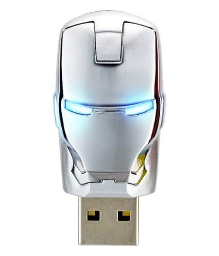 Marvel Iron Man 3 ,4GB USB Flash Drive with Keychain Licensed Product