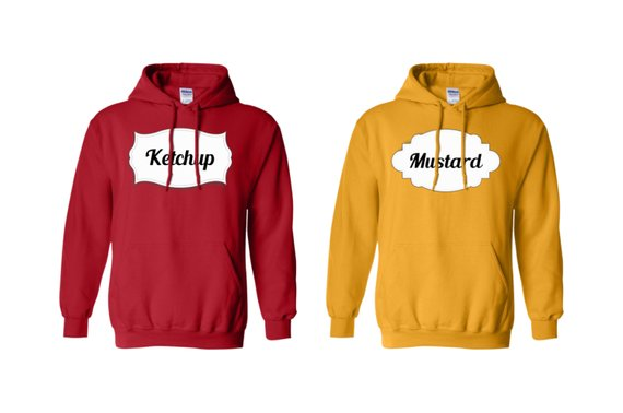 Ketchup & Mustard Couple Hoodies