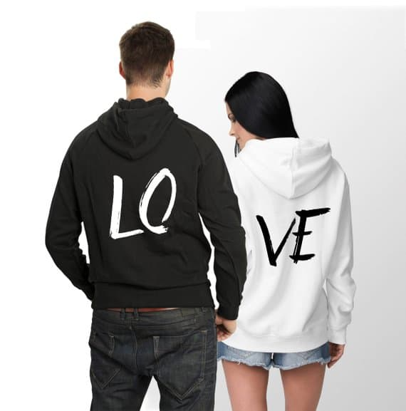 LOVE Matching Couple Hoodies