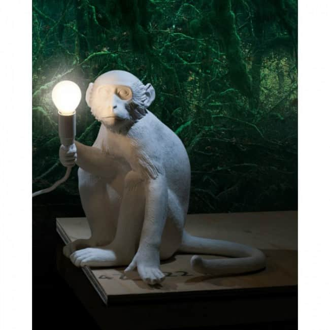 Monkey Lamp Sitting