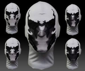 Moving Inkblot Rorschach Mask