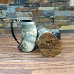 Personalized Buffalo Horn Mug