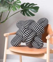 Stripes Knot Pillow