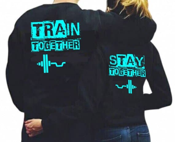 Train Together Stay Together Couple Hoodies