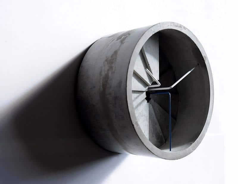 4th Dimension Concrete Wall Clock
