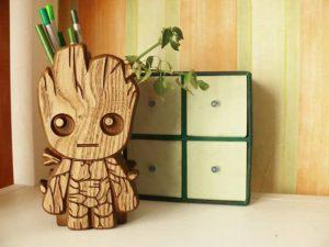 Baby Groot Wooden Holder