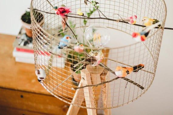 Birdcage Tripod Floor Lamp