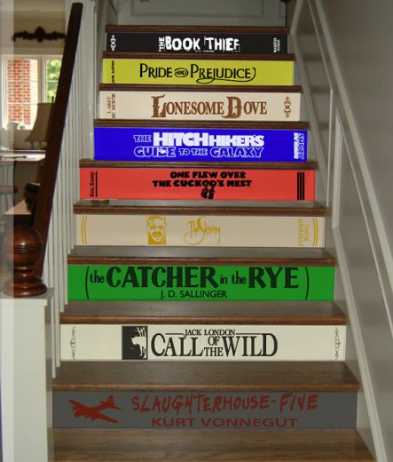 Book Staircase Decals