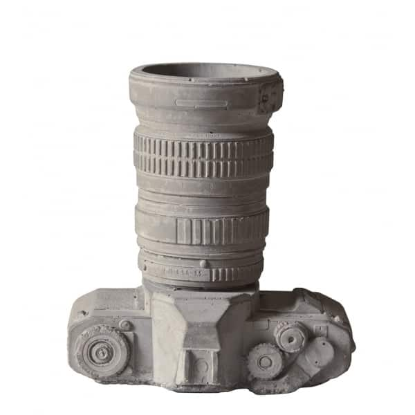 Cement Camera Desk Organiser or Plant Pot