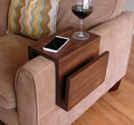 Couch Arm Rest Wrap with Storage Slot