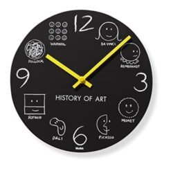 History of Art Wall Clock