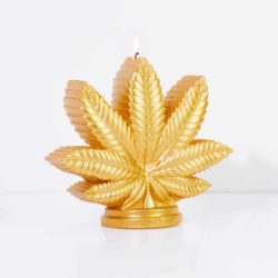 Marijuana Leaf Candle
