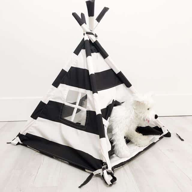 Black & White Pet Teepee Tent