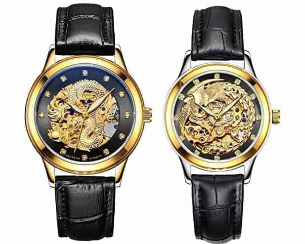 Dragon And Phoenix Couple Watches