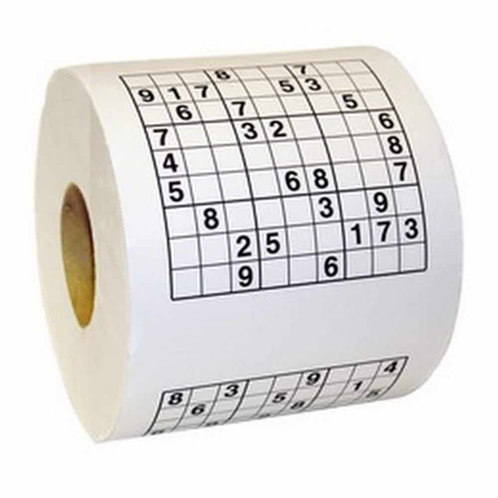 Novelty Sudoku Puzzle Toilet Paper Game Roll