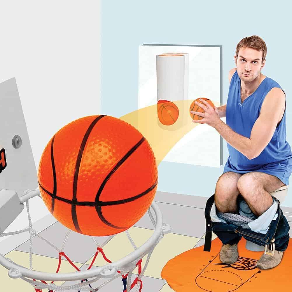 Novelty Toilet Basketball Slam Dunk Game