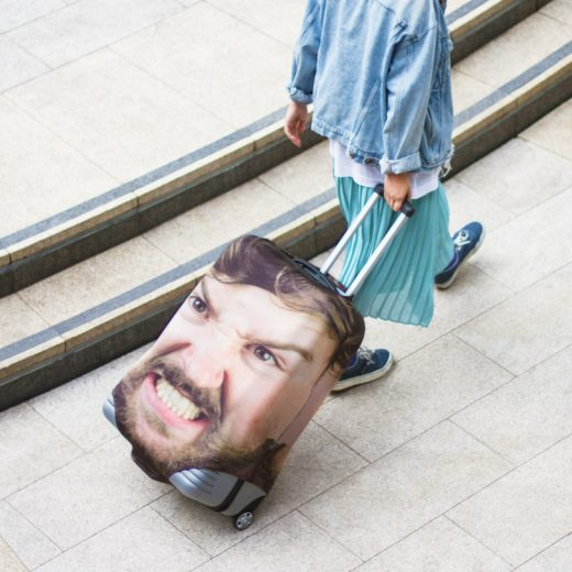 Personalized Head Case Luggage