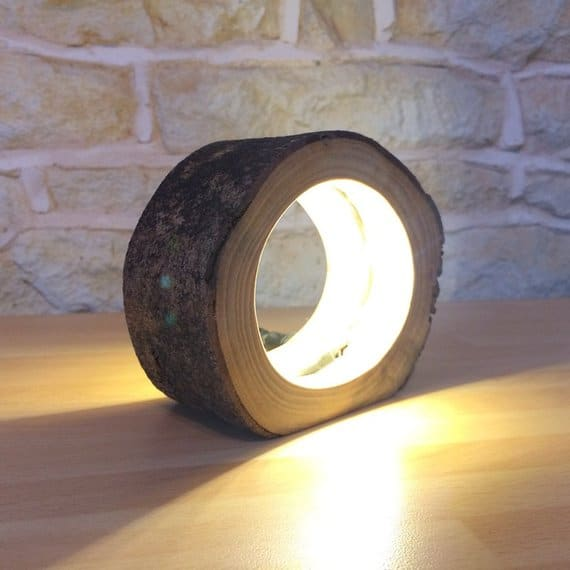 Wooden Log Table Lamp Things I Desire