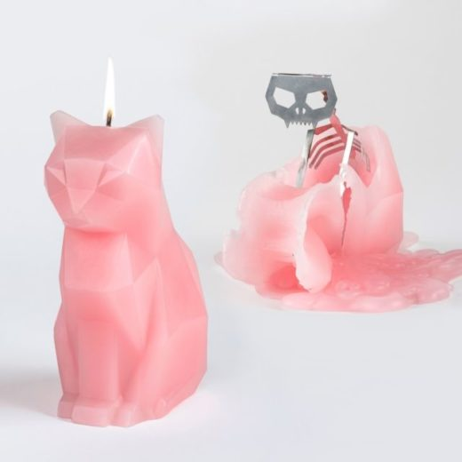 Cat Skeleton Candle