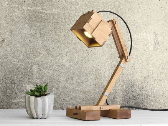 Kran Adjustable Wooden Lamp