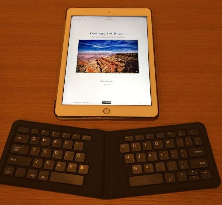 Wireless Foldable Bluetooth Keyboard