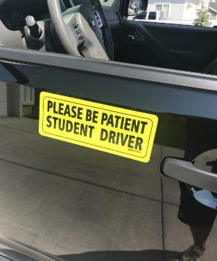 Please Be Patient Student Driver Car Decal