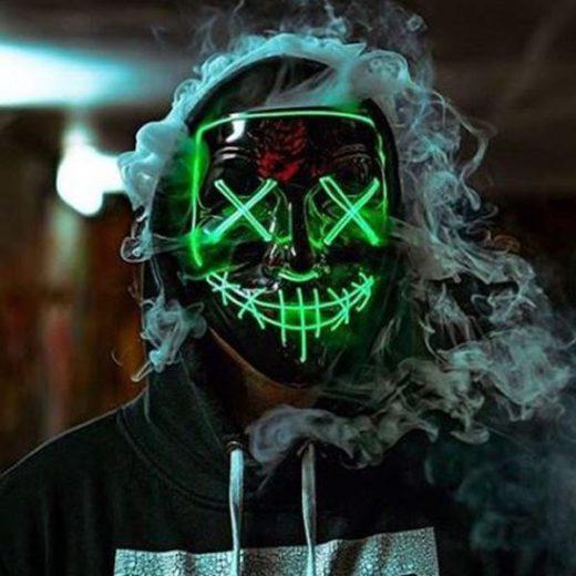 Halloween Purge LED Mask