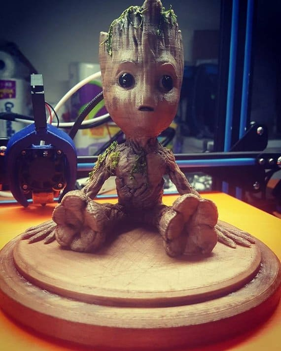 Real Wood Baby Groot
