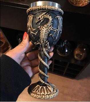 Dragon Skeleton Goblet Wine Chalice