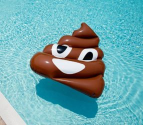 Giant Inflatable Poop Emoji Pool Float