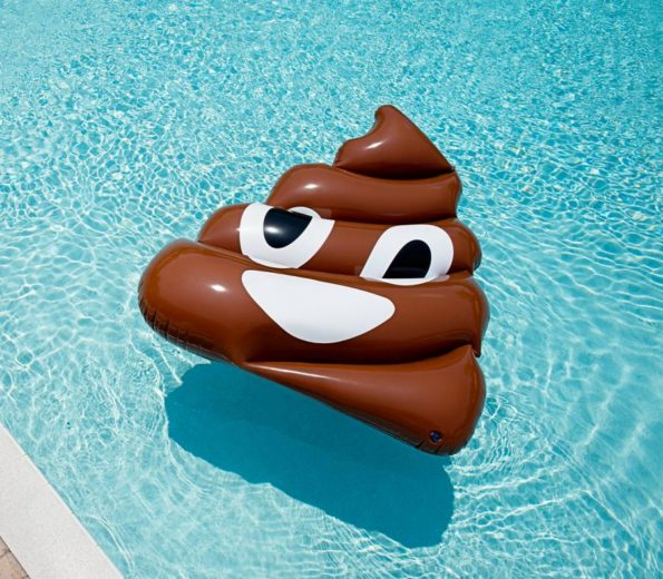 Giant Inflatable Poop Emoji Pool Float