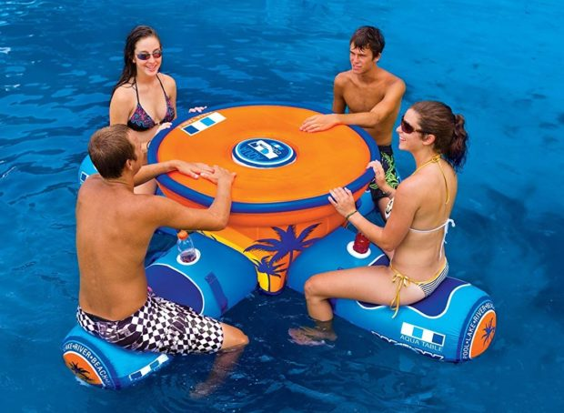 Inflatable Pool Floating Picnic Table