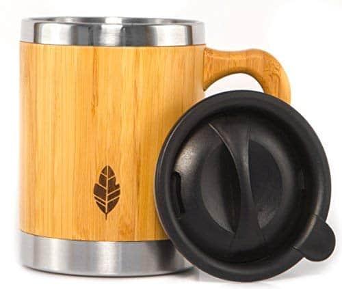 Stainless Steel Bamboo Coffee Mug