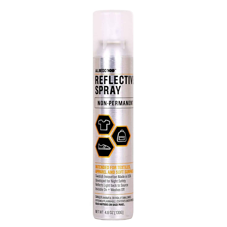 Non-Permanent Reflective Spray