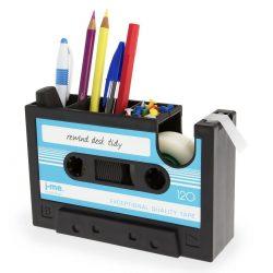 Retro Cassette Desk Organizer